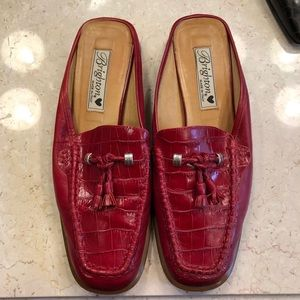 Brighton Red Mules- Julie SZ 8.5